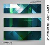 set of banners  technology art... | Shutterstock .eps vector #239422255