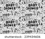 seamless doodle baby pattern | Shutterstock .eps vector #239434606