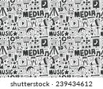 seamless doodle communication... | Shutterstock .eps vector #239434612