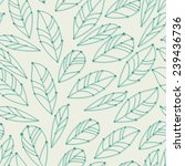 seamless pattern with leaves | Shutterstock .eps vector #239436736