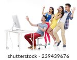people in shopping carnival | Shutterstock . vector #239439676