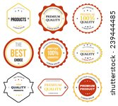 set of retro vintage badges and ... | Shutterstock . vector #239444485