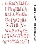 3d alphabets  digits and sign...   Shutterstock . vector #239455846
