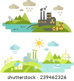 panoramic landscape with... | Shutterstock .eps vector #239462326