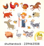 Set Funny Farm Little Animals....