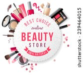 beauty store emblem with type... | Shutterstock .eps vector #239464015