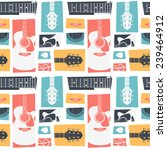 acoustic guitar collage. vector ... | Shutterstock .eps vector #239464912