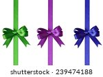 set of bows with ribbons... | Shutterstock . vector #239474188