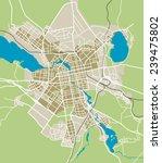 ekaterinburg city vector map | Shutterstock .eps vector #239475802