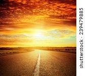 good red sunset and asphalt... | Shutterstock . vector #239479885