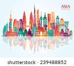 asia  skyline detailed... | Shutterstock .eps vector #239488852