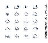 Simple Line Weather Icon Set....