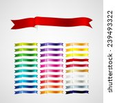 vector ribbons set | Shutterstock .eps vector #239493322