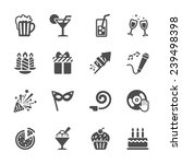 new year party icon set 7 ... | Shutterstock .eps vector #239498398