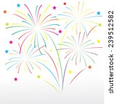 firework carnaval background ... | Shutterstock .eps vector #239512582
