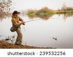 Fisherman On The Autumn...