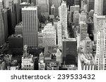 Aerial View Of Buildings In Mid ...