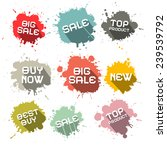 blots   splashes vector... | Shutterstock .eps vector #239539792