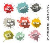 blots   splashes vector... | Shutterstock .eps vector #239539792