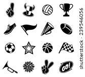 sports icons and fans equipment.... | Shutterstock .eps vector #239546056