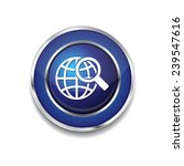 globe sign blue vector icon... | Shutterstock .eps vector #239547616