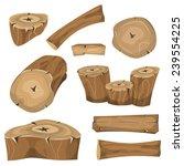 wood logs  trunks and planks... | Shutterstock .eps vector #239554225