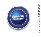 student discount blue vector... | Shutterstock .eps vector #239555806