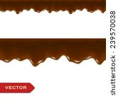 melted chocolate drips.... | Shutterstock .eps vector #239570038
