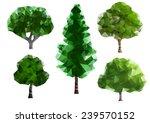 green trees | Shutterstock .eps vector #239570152
