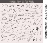 hand drawn arrows set one... | Shutterstock .eps vector #239571982