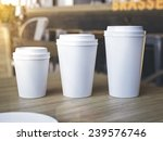 cups of different sizes on cafe ... | Shutterstock . vector #239576746