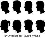 silhouette men profile  ... | Shutterstock .eps vector #239579665