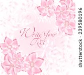 wedding card or invitation with ... | Shutterstock .eps vector #239580196