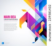 text background with abstract... | Shutterstock .eps vector #239581432