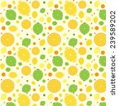 seamless pattern with lemon ... | Shutterstock .eps vector #239589202