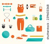 vector fitness set. vector... | Shutterstock .eps vector #239603368