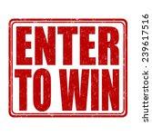 enter to win grunge rubber... | Shutterstock .eps vector #239617516