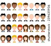 business people avatar  plus... | Shutterstock .eps vector #239635936