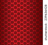 red peonies vector background | Shutterstock .eps vector #239636428