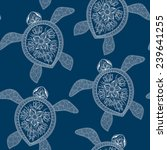 seamless pattern with turtles.... | Shutterstock .eps vector #239641255