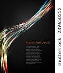 abstract neon lines. vector... | Shutterstock .eps vector #239650252