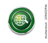 globe sign green vector icon... | Shutterstock .eps vector #239652946