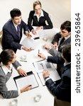 team of five business people... | Shutterstock . vector #23965864