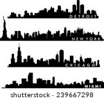 detroit  chicago  new york ... | Shutterstock .eps vector #239667298