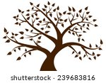 Decorative Brown Tree Silhouette