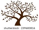 Decorative Brown Tree Silhouette