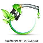 green gas pump nozzle | Shutterstock .eps vector #23968483
