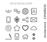 set of simple social icons | Shutterstock .eps vector #239688232