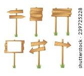 set of wooden sign vector | Shutterstock .eps vector #239725228