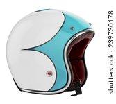 motorcycle helmet turquoise... | Shutterstock . vector #239730178